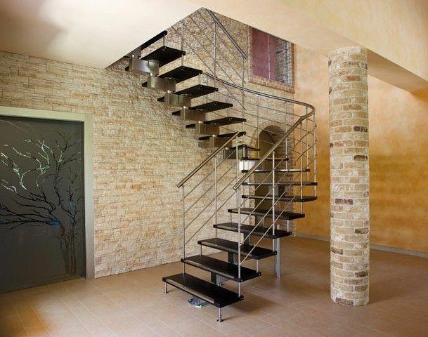 Interior u forma haste de a o inoxid vel escada com - Cancelletti per scale a chiocciola ...
