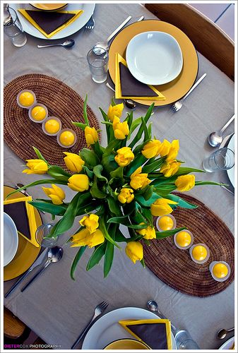 spring table - tulips are a must