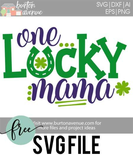 Download this free St. Patrick's Day SVG file for your DIY St. Patrick's Day project. This free SVG file will work Cricut and Silhouette cutters.