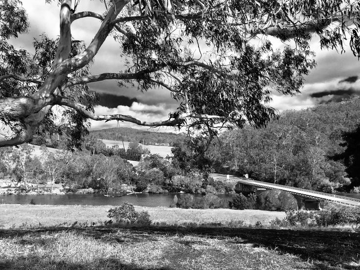 Yowaka River Bridge Black & White