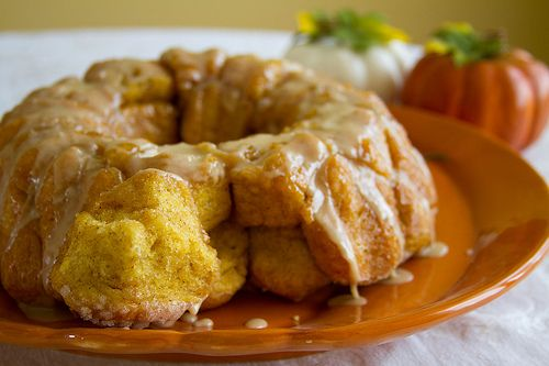 Pumpkin Monkey BreadDesserts, Pumpkin Monkeys, Monkeys Breads, Recipe, Monkey Bread, Sweets, Monkeybread, Food, Fall