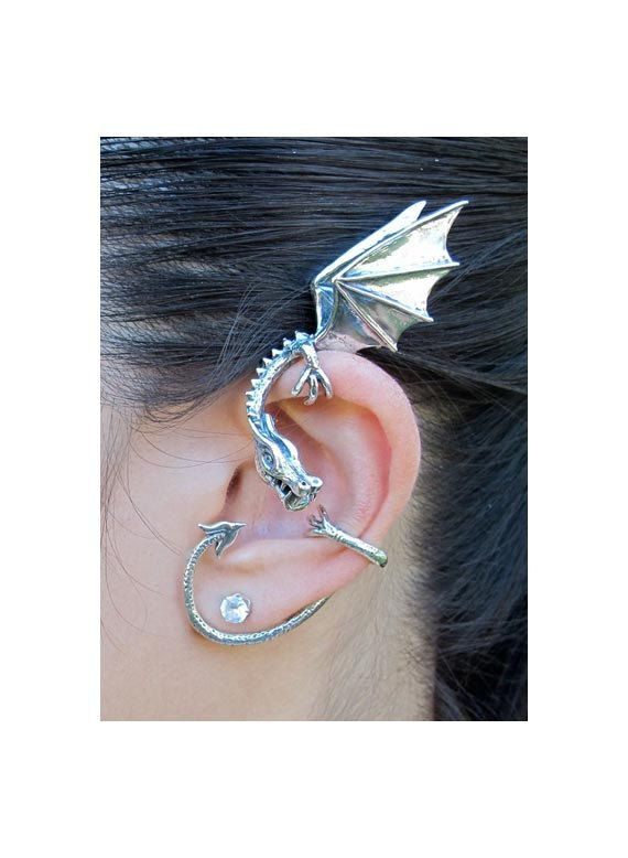 Best 25 ear wraps ideas on pinterest diy earrings for non pierced ears diy earrings without - Game of thrones dragon ear cuff ...