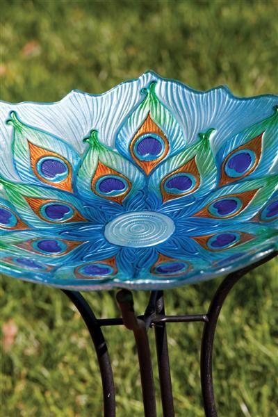 Peacock Birdbath- Large Diameter