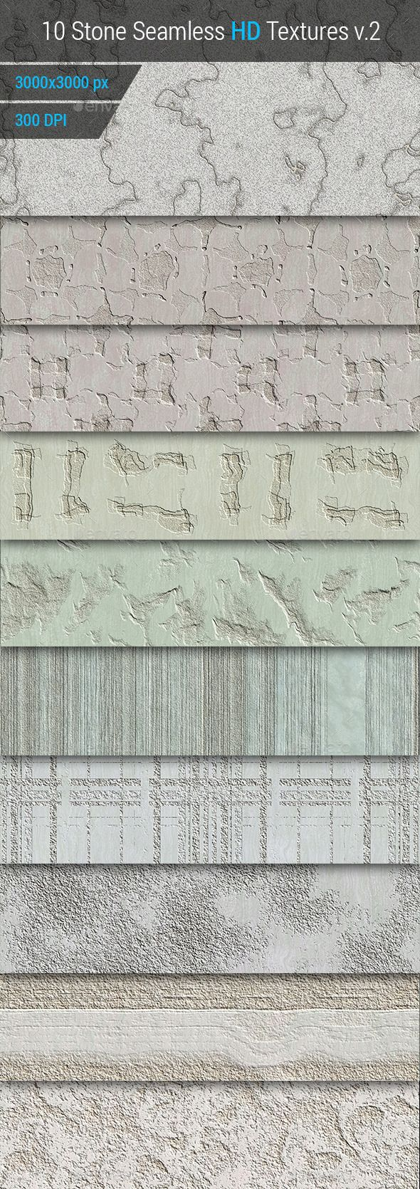 Stone Seamless and Tileable HD Textures Set v.2