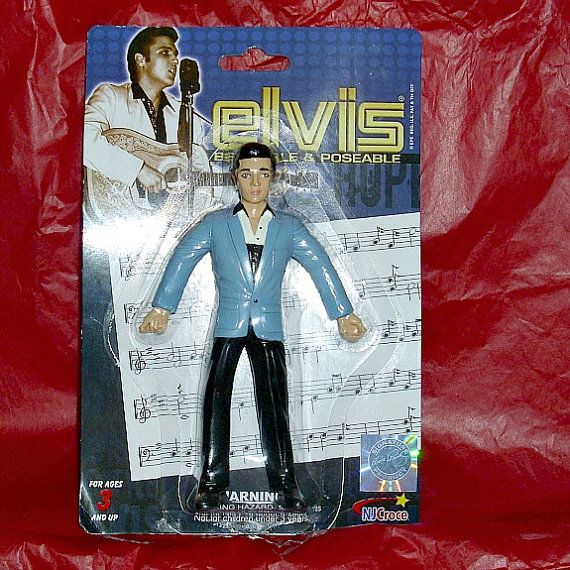 Elvis Presley Bendy & Poseable Figure Music by WelshGoatVintage - SOLD OUT