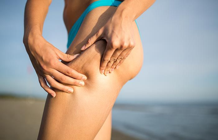 Cellulite is basically the fat pushing against the connective tissues of your skin, resulting in ugly dimpling of the skin.