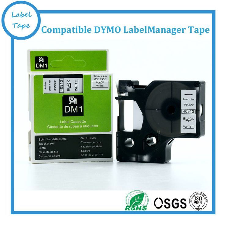 "9mm Cheap label printer dymo tape 40913 3/8"" X 23' S0720680 dymo d1 cartridge 7m DYMO D1 labelmanager tape"