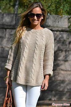 Пуловер из ангоры.