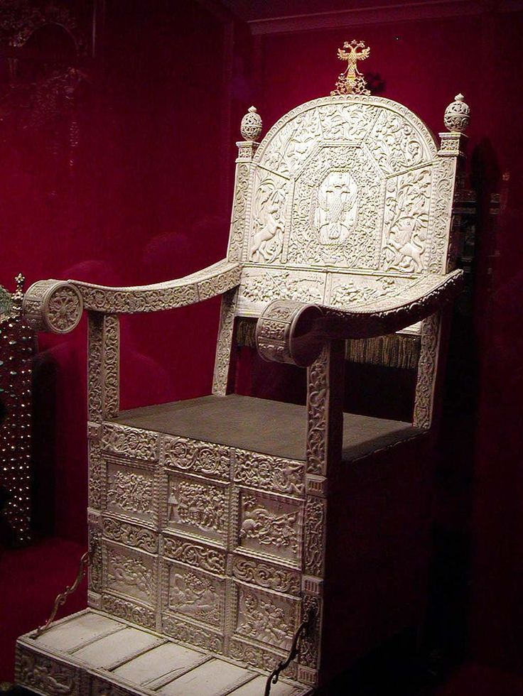 Ivory Throne Of Ivan IV (the Terrible) Of Russia. Reign: 16 January
