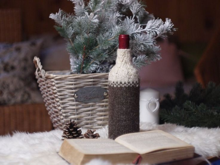 Вязаная одежда для бутылок - Ярмарка Мастеров - ручная работа, handmade