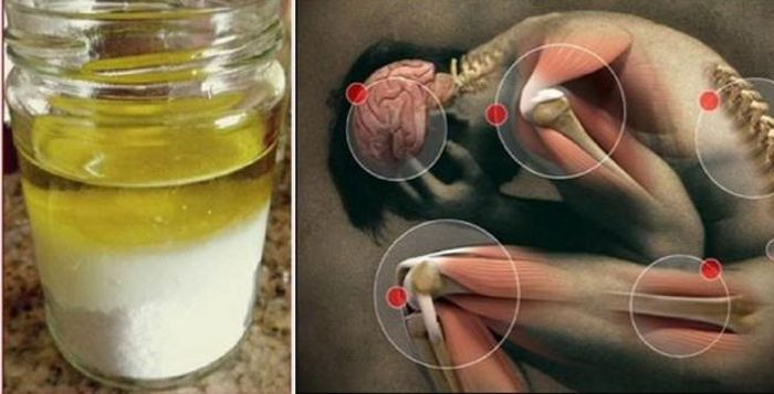 L'huile d'olive et le sel guérissent chaque douleur. Voici