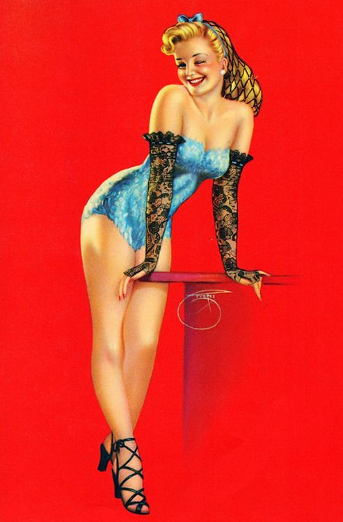 "Pin By Dani Daemon On Boys And Girls: ""Glovely"" ~ By Billy DeVorss, 1940's..."