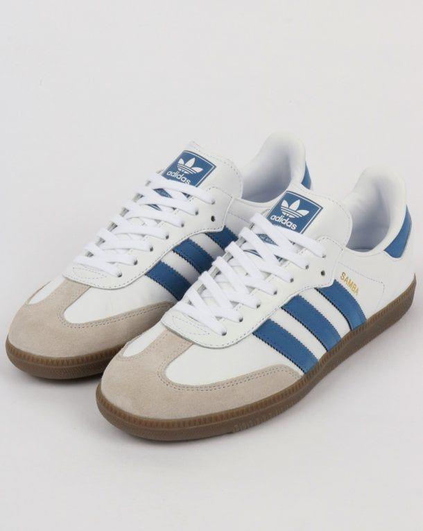 Hohe qualität Adidas Samba OG Herren Blau Turnschuhe