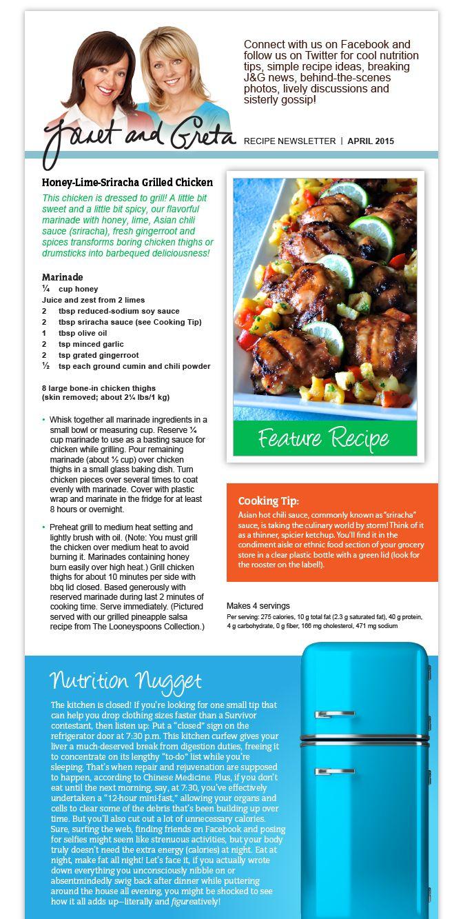 April Recipe Newsletter