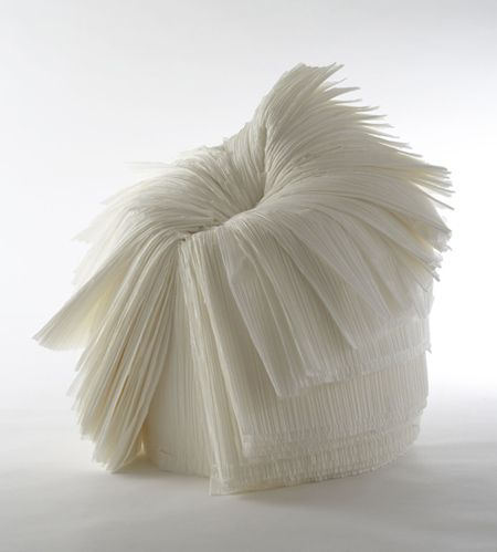 Cabbage Chair made of waste paper white | chair . Stuhl . chaise | Design: Nendo |