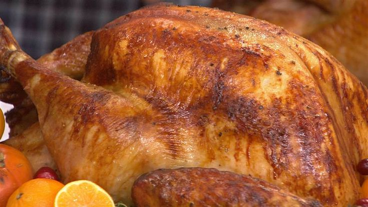 Curtis Stone's easy Thanksgiving turkey recipe calls for brining and basting the turkey, two steps that make it incredibly succulent.