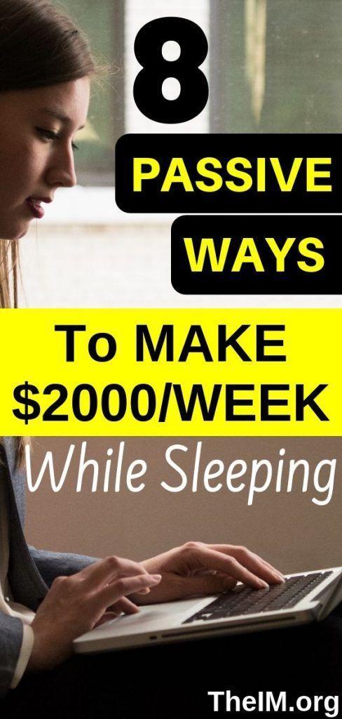 8 Legit Ways To Make Money While Sleeping! – Money & Opportunities