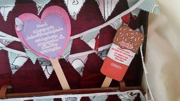 Children's Fab Lolly Party Invitations. Summer Or Seaside Personalised  Birthday Party Invitations Pack Of 10