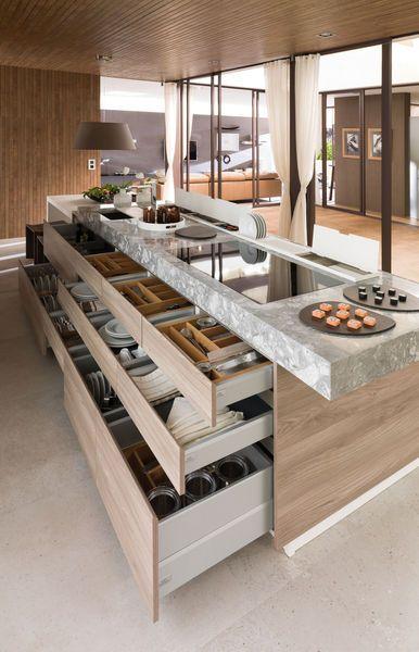 Porcelanosa cuisine, salle de bain et meuble - CôtéMaison.fr - Ce meuble est absolument génial !