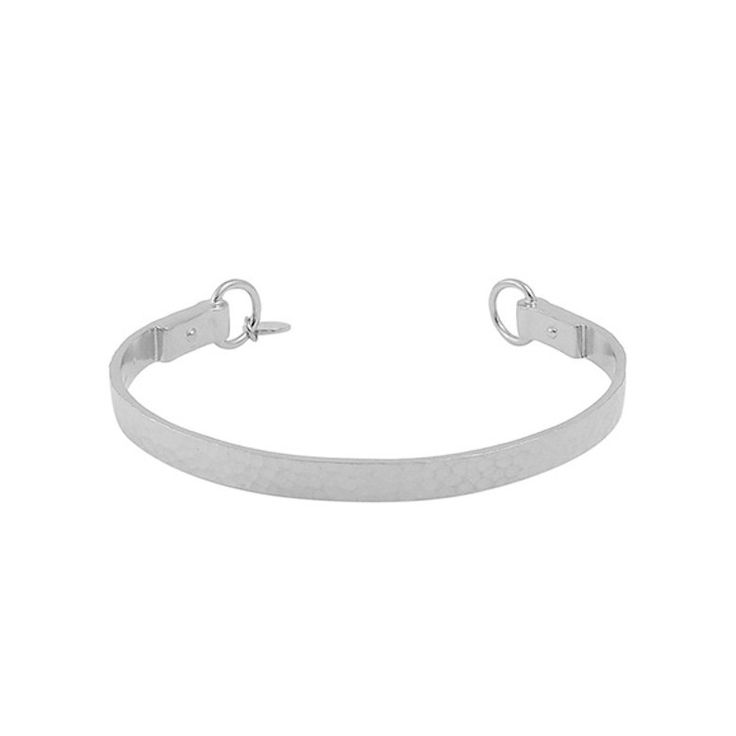 Nicole Fendel Willow Hammered Cuff - Silver