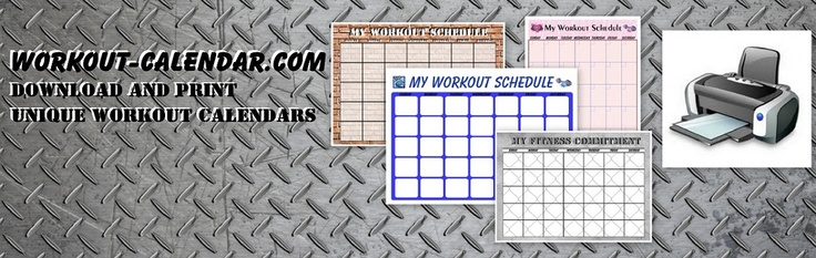 Print Out A Workout Calendar | Print A Workout Calendar - Awesome site for almost every workout from PX90 to Zumba!