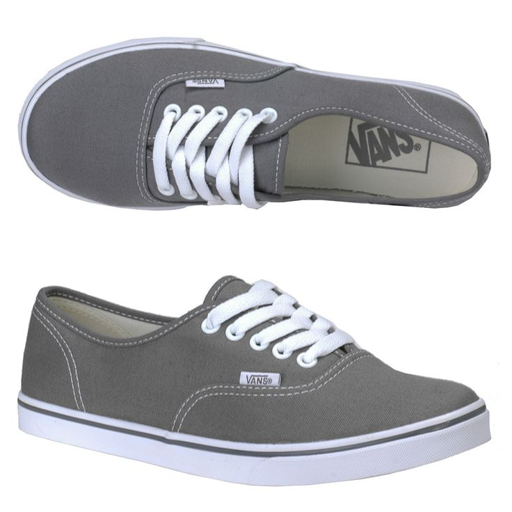 authentic lo pro vans pewter