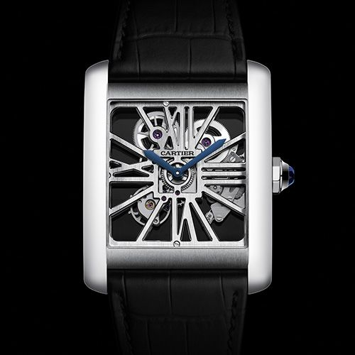 A masculine expression of elegance Cartier Tank MC & MC Skeleton in Palladium (See more at:http://watchmobile7.com/articles/cartier-tank-mc-mc-skeleton-palladium) (1/7) #watches #cartier @Cartier