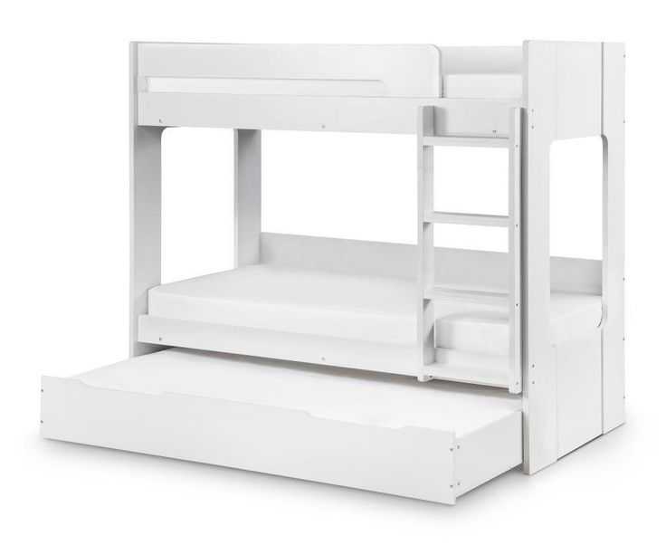 Ellie White Wooden Bunk Bed Frame and Trundle Guest Bed Underbed Storage  Drawer   3ft. Best 25  White wooden bunk beds ideas on Pinterest   Kids pallet