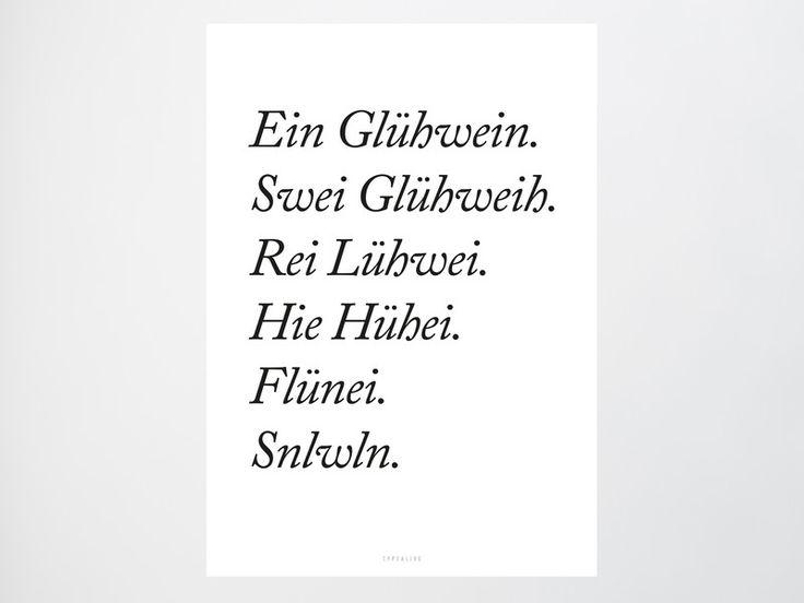 Originaldruck - Kunstdruck Poster / Glühwein - ein Designerstück von typealive bei DaWanda