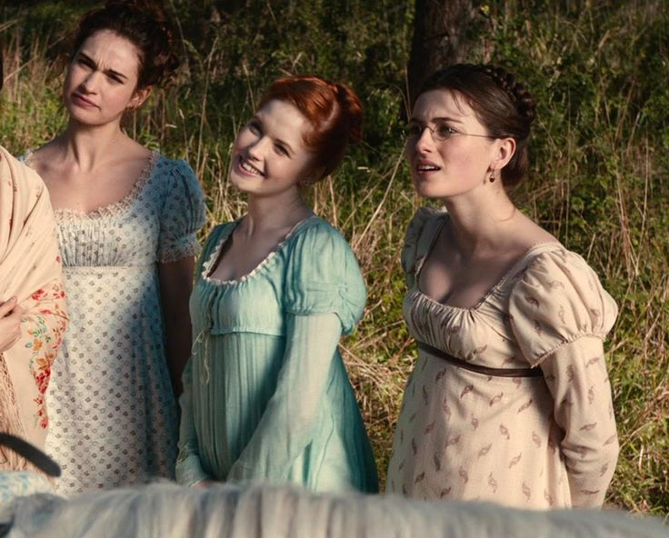 Pride and Prejudice and Zombies - Elizabeth Bennet and Mary Bennet with Lydia Bennet