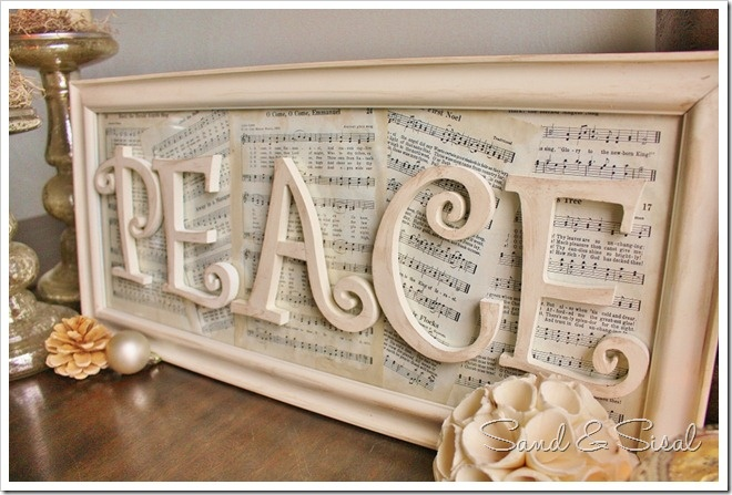 Peace sign: Vintage Paper, Vintage Sheet Music, Peace Signs, Old Frames, Wooden Letters, Music Sheet, Christmas Carol, Paper Crafts, Sheet Music Art