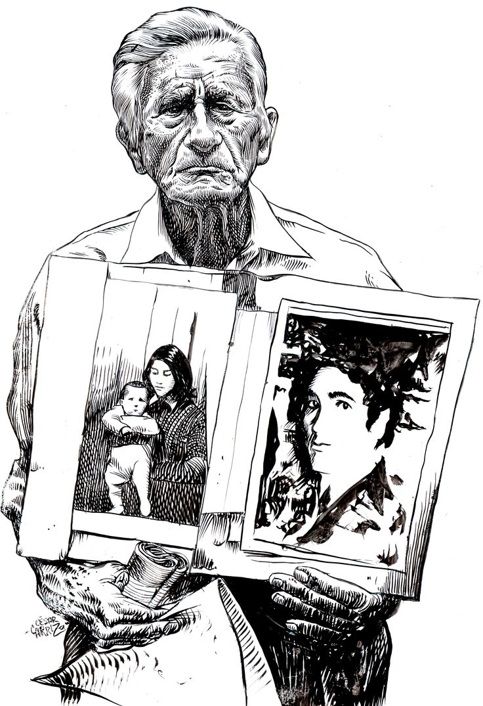 Don Díaz Tinta china sobre papel