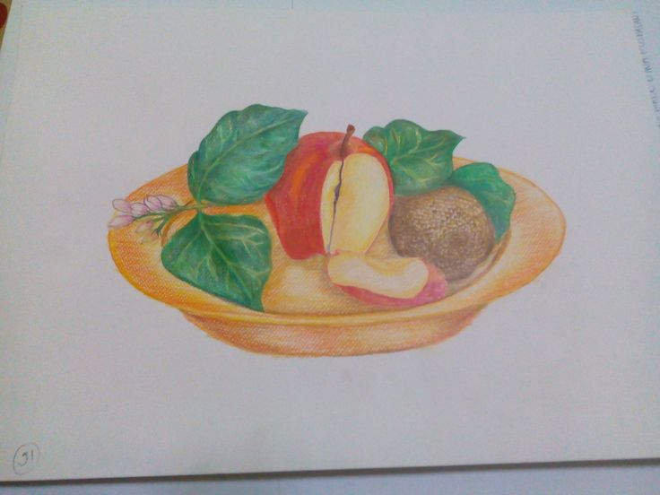 On the spot, fruit, pencil color