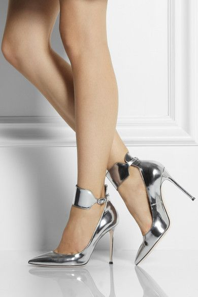 Gianvito Rossi  Classic, sexy....goes with anything or better yet, nothing but,
