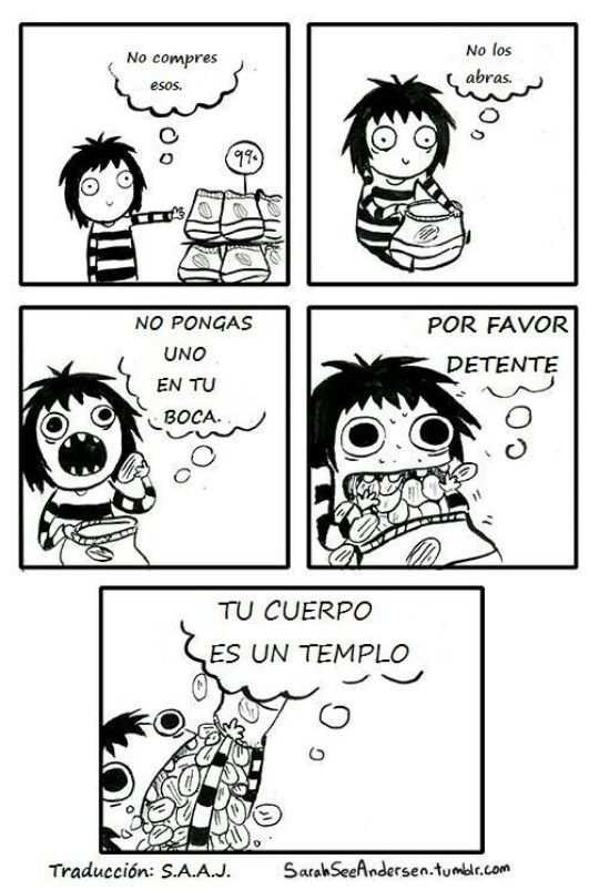 Doodle Time by Sara See Andersen español #dieta #chica #comer #gorda #papitas #romperladieta #cuerpo