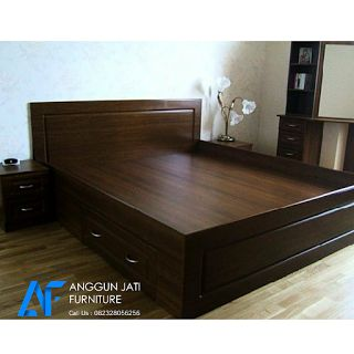 Tempat Tidur Jati Minimalis | Dipan Jati Minimalis Modern | Ranjang Minimalis Jati