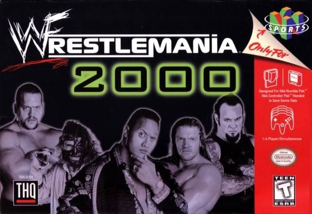 wwf  Wrestling poster Art | WWF Wrestlemania 2000 Game