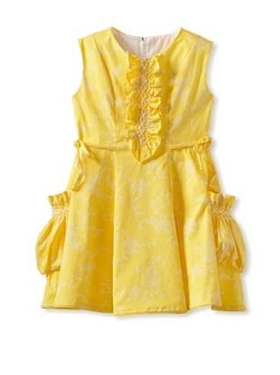 Isabel Garreton Girls Hand Smocked Dress (yellow floral)