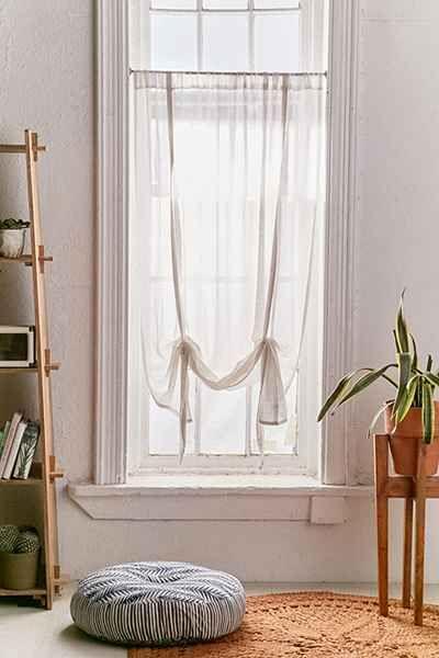Rideau de fenêtre drapé en gaze Chloe Plum & Bow