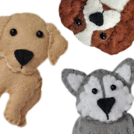 cute plush Dogs sewing patterns set One pdf PATTERN by sewsweetuk