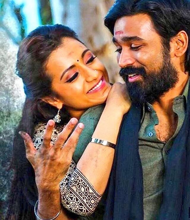 Sooo cute ❤️ #Kodi trailer will be out in a few hours!  #dhanush#trishakrishnan#kollywood#tamilcinema