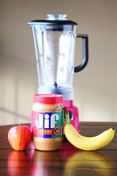 Peanut Butter Banana Apple Smoothie. Banana and apple help avoid acid reflux. REALLY GOOD! I add either almond milk or greek yogurt, and half scoop of chocolate or vanilla protein powder. I also add a tablespoon of chia seeds and ground flaxseed.