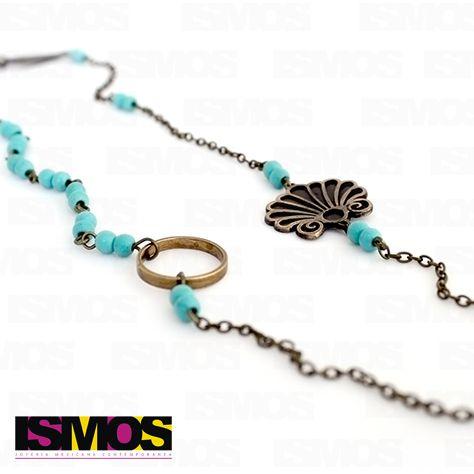 ISMOS Joyería: collar de bronce y piedras // ISMOS Jewelry: stones and bronze necklace