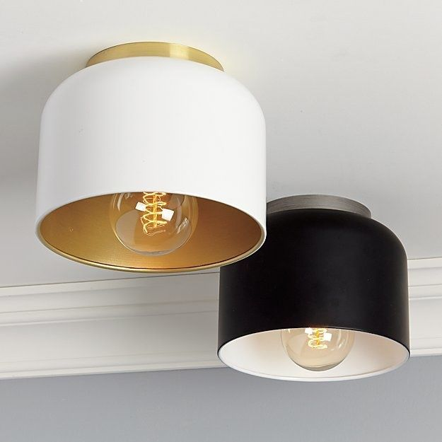 27 Light Fixtures That Don T Cost A Fortune White Flush Mount Light Black Flush Mount Light Flush Mount Lighting