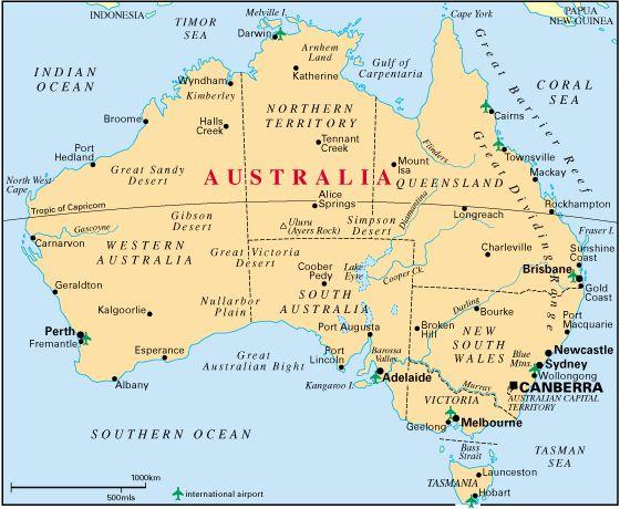 Carte Australienne
