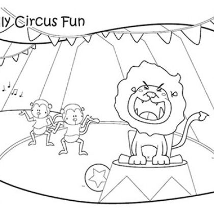 Circus Lion Coloring Page