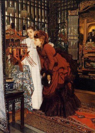 James Jacques-Joseph Tissot (1836 – 1902), Giovani donne in cerca di oggetti ...