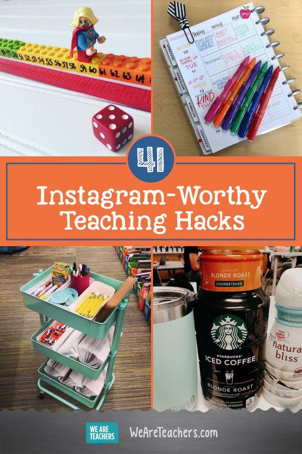 41 Instagram-würdige Lehrer-Hacks, die Sie in Ihrem Klassenzimmer ausprobieren können