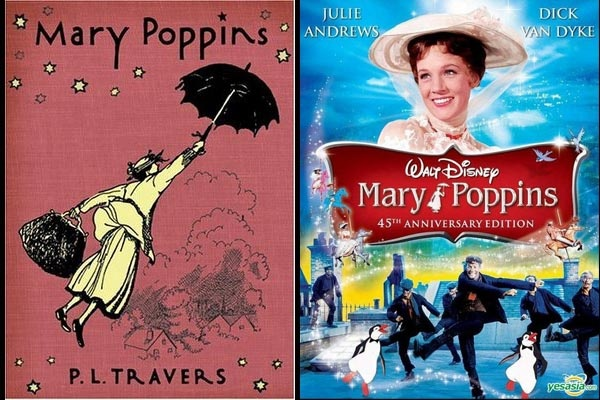 Mary Poppins is a 1964 musical film starring Julie Andrews, Dick Van Dyke, produced by Walt Disney, and based on the Mary Poppins books series by P. L. Travers.