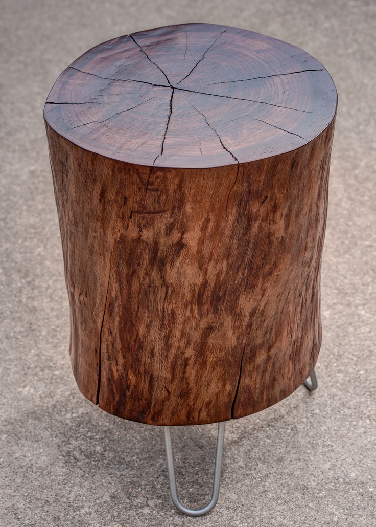 1000 images about log table on pinterest tree stump for Tall tree stump ideas